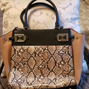 Medium to larger Tote Snake askin Embossing two to